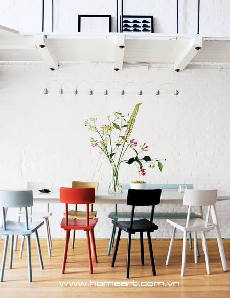 Bố trí bàn ăn cho nhà chật