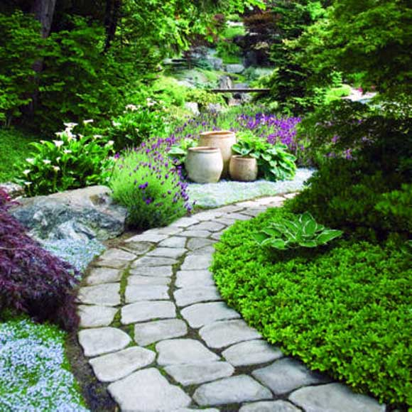 Thiết kế ngoại thất với lối mòn trong khu vườn nhà bạn