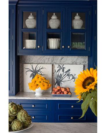 Tham quan căn bếp màu xanh Cobal