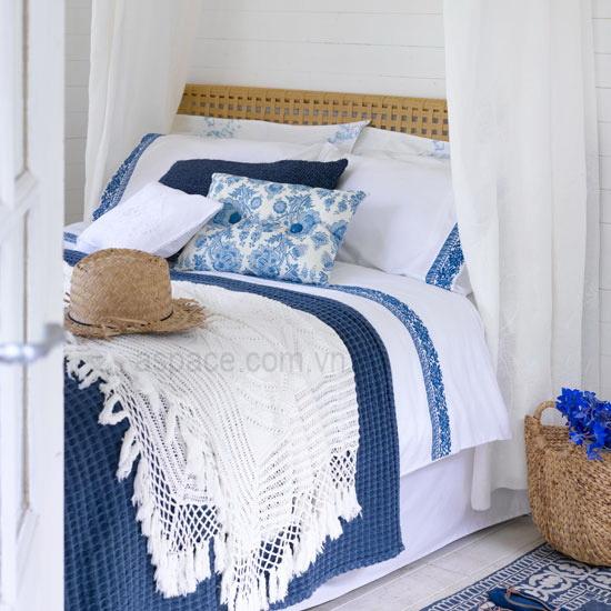 Phòng ngủ đẹp theo phong cách đồng quê