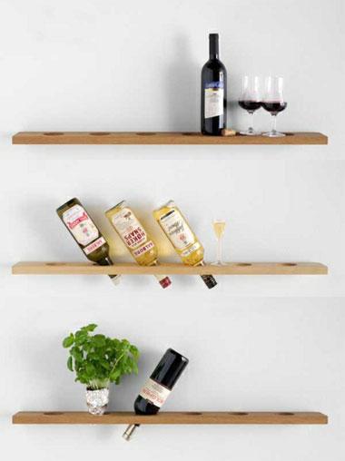 Sử dụng kệ treo tường ấn tượng trong nhà