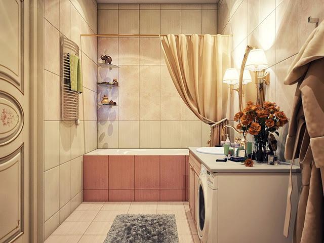 Phòng tắm vintage mang hơi thở hiện đại