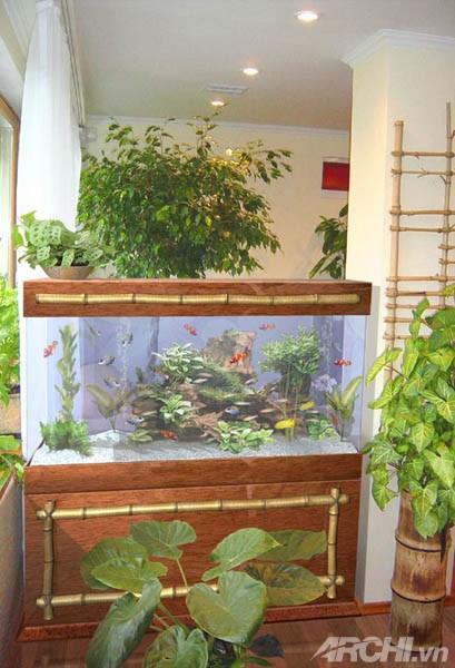 Bí quyết trang trí bể cá thủy sinh trong nhà