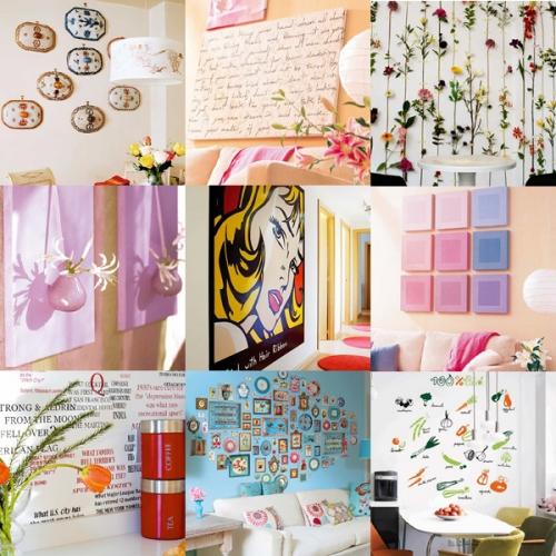 10 cách trang trí tuyệt đẹp cho bức tường xinh