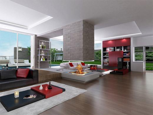 Những thiết kế nội thất đẹp bằng 3D max - CafeLand Vn