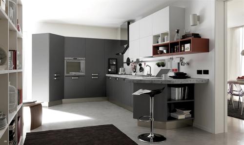 Thiết kế bếp trong phòng khách