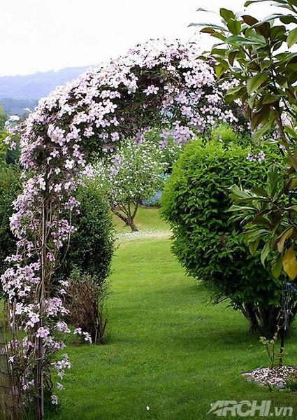 Những chiếc cổng lãng mạn cho biệt thự nhà vườn