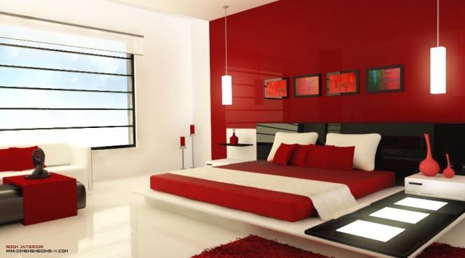 Ngủ trong màu đỏ đam mê