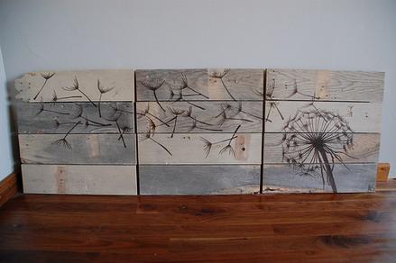 Sáng tạo từ gỗ nhặt
