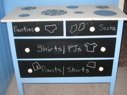 Tủ quần áo, bảng đen - 2 trong 1
