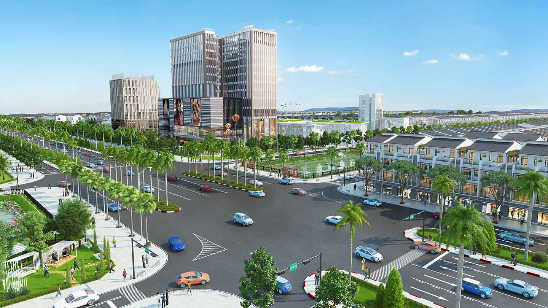 Hình ảnh: Phối cảnh dự án khu đô thị Bella Vista Long An - CafeLand.Vn