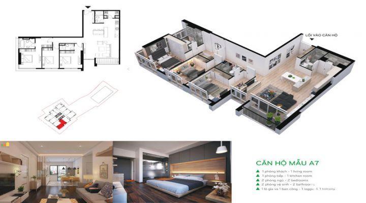 Cho thuê căn hộ chung cư 106 Hoàng Quốc Việt. Nội thất full hoặc cơ bản, giá rẻ