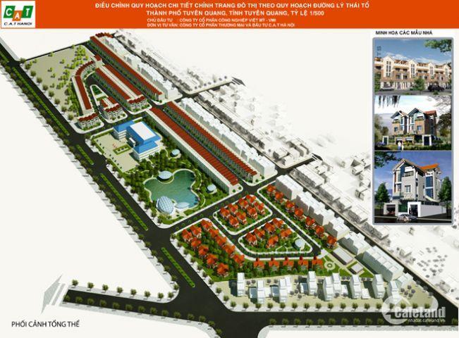 Nhận đăng kí đặt mua đất nền phân lô dự án khu đô thị Việt Mỹ Villas thành phố Tuyên Quang