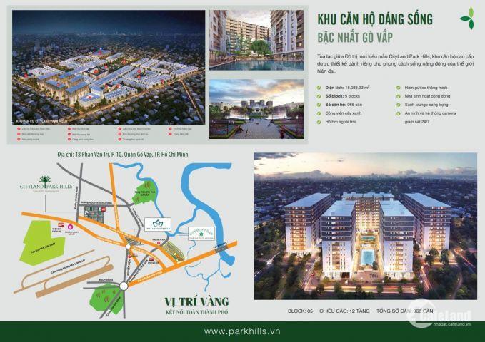 Mình chính chủ cần bán gấp, căn hộ khu đô thị cao cấp CityLand Gò Vấp sắp bàn giao