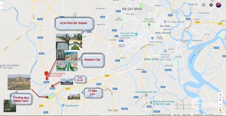Bán đất nền trước KCN dễ dàng kinh doanh buôn bán tại Bến Lức, Long An