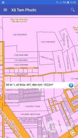 Bán đất Tam Phước giá rẻ gần vòng xoay 60m