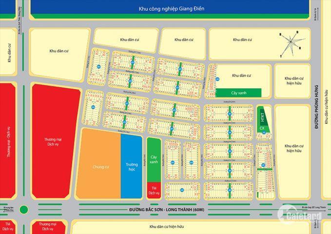 Đất nền Tam Phước mặt tiền đường Phùng Hưng giá tốt chỉ 6,5 tr/m2, sổ đỏ thổ cư