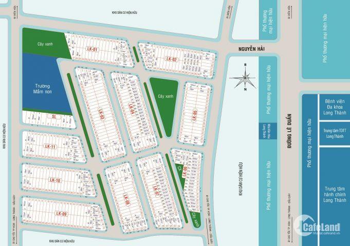 Dự án duy nhất năm 2018 ngay TT hành chính Long Thành, giá 10,5tr/m2, LH 0962030274