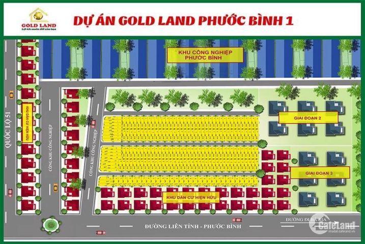 Cần bán lô đất đẹp mặt tiền rộng nằm trên trục đường chính Phước Bình