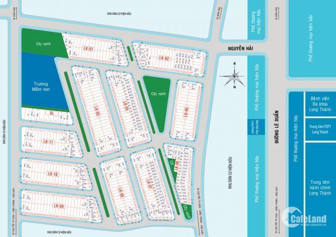 Eco Town Long Thành, trung tâm hành chính, Vincom, full tiện ích, giá chỉ 12tr, SHR
