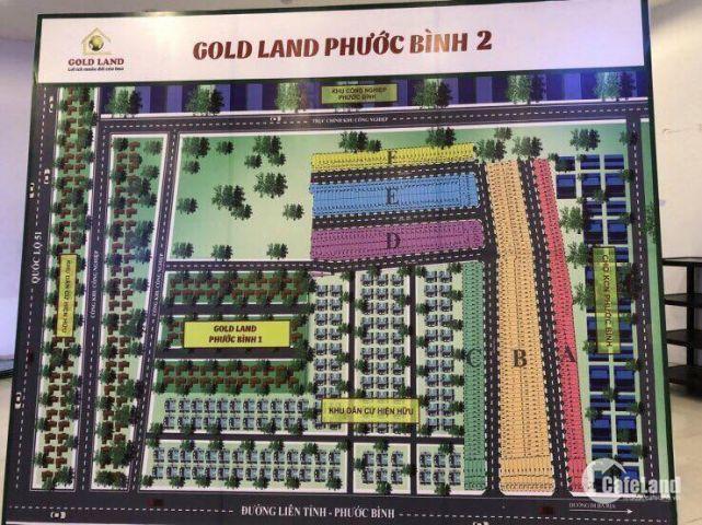 Mở bán Gold Land Phước Bình 2, DT 100m2 giá đầu tư cam kết lời 26%. LH 0932.781.146
