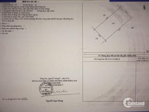 Bán đất chính chủ-phong thủy đắc địa ngay mặt tiền QL51.Giá 6tr/m2.LH:0908643685