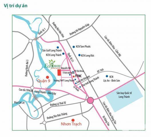 Đất nền trung tâm TT Long Thành, SHR,Thổ cư 100%, giá từ 560tr/nền