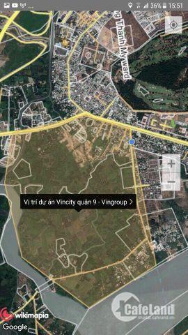 Định cư nước ngoài cần bán đất mặt tiền Vincity Q9, sổ hồng riêng