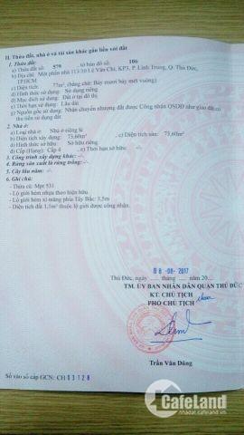 Bán lô đất duy nhất tại Lê Văn Chí 77m2 giá thương lượng ngay bệnh viện đa khoa thủ đức