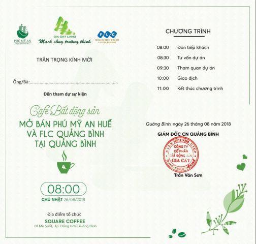 Lễ mở bán Dự án FLC Quảng Bình và Dự án Phú Mỹ An Huế tại Quảng Bình