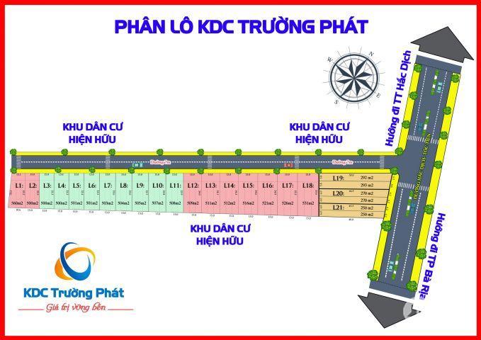 Đất mặt tiền Hắc Dịch, Tóc Tiên, Tân Thành BRVT giá chỉ 2 triệu 1 m2