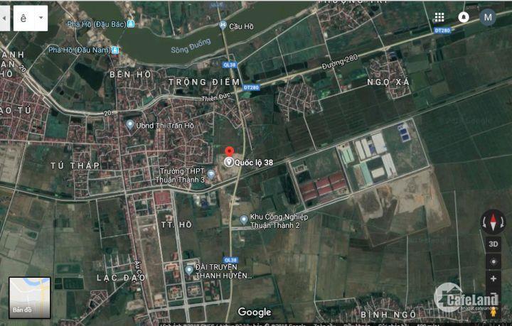 Bán lô đất vị trí đẹp ngay gần chợ trung tâm huyện thị Trấn Hồ Thuận Thành Bắc Ninh-0977-097-626