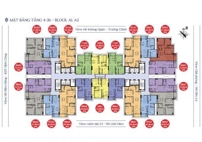 Sky central - chỉ với 1.6 - 2.9 tỉ sở hữu ngay chcc 66m2 - 100m2 tại lòng hà nội + ck4% + ưu đãi + vay 0% lãi suất