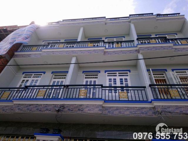 Bán nhà Nhà Bè 4m x 12m, 3 tầng, hẻm xe hơi, đường Nguyễn Bình, cạnh UBND huyện Nhà Bè. Giá 1.95 tỷ