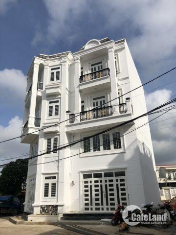 Biệt thự Tô Ngọc Vân, mới xây 4 lầu, đường nhựa 8m,ngân hàng hỗ trợ 70%