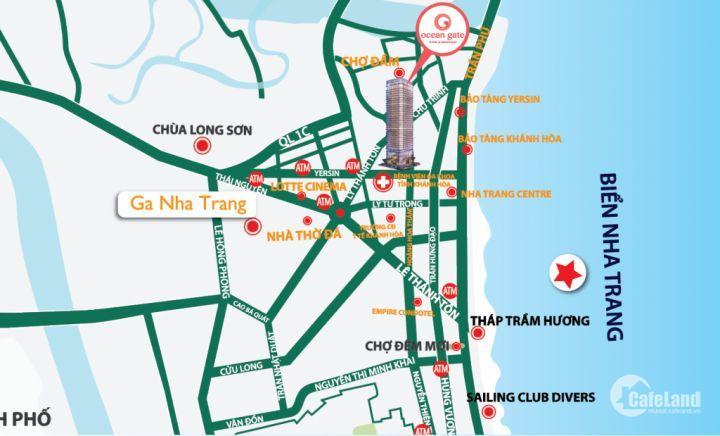 Cực sốc- căn hộ nghỉ dưỡng Ocean Gate trung tâm biển Nha Trang chỉ từ 1.8 tỷ/ căn- LH 0932237797