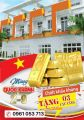 Bán nhà 1 trệt 2 lầu,MT kinh doanh buôn bán đường 22/12 Thuận An, 180m2, SHR, TC 100%, 0961053713
