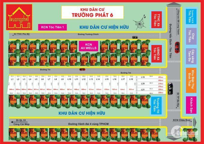 Hot bán đất cho người xây nhà trọ chỉ 1.5tr/m2 tại tóc tiên, BRVT CĐT: 0168 420 8675