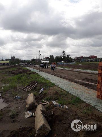 Đất đối diện KCN cầu tràn mặt tiền DT 826 cạnh chợ cầu tràm