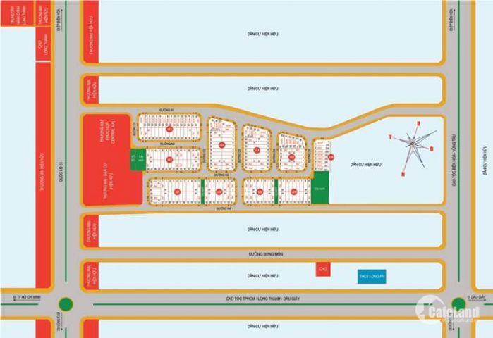 Đất nền thổ cư 100% SHR QL51  LOng THành