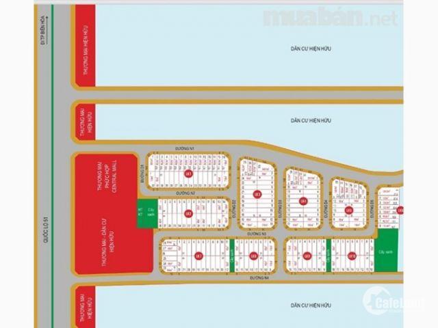 Dự án Central mall, mặt tiền quốc lộ 51 điểm giao các cao tốc, giá F0 CĐT, lh 0937 847 467
