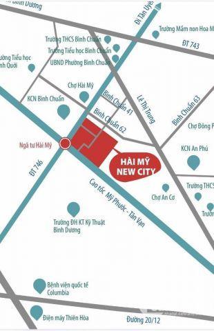 Mở bán lô đất mặt tiền của dự án Hài Mỹ New City thuận giao Bình Dươn