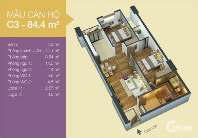 Cần bán căn hộ 02 phòng ngủ, diện tích 84,4m2 tại Tòa nhà hỗn hợp An Bình 1, số 3 Trần Nguyên Đán, phường Định Công, quận Hoàng Mai, Hà Nội. Liên hệ Linh: 09120
