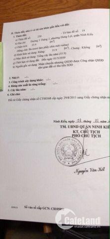 Bán nhà mặt tiền 210,3m2, đường 3/2 quận Ninh Kiều