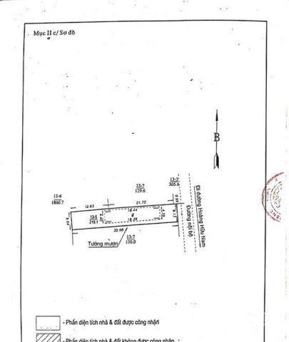 Nhà cấp 4, 219m2, giá 28tr/m2 Phường Tân Phú
