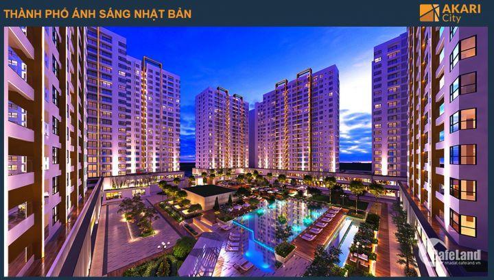 Một thành phố thu nhỏ Akari-Nam Long city sắp được mở bán với mức thanh toán chỉ 50% đến khi nhận nhà. Dự án nằm ngay mặt tiền đường Võ Văn Kiệt chỉ 27tr/m2.LH: