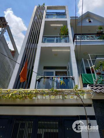 Nhà đẹp 1 trệt 2 lầu 1 sân thượng , diện tích 63m2  hẻm xe hơi