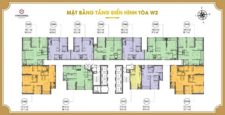 Bán căn hộ 2 ngủ phía tây – khu vực Nam Từ Liêm