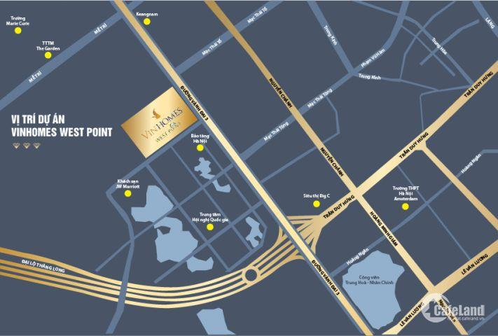 Tặng ngay 140tr khi sở hữu 1 căn hộ 2 chìa khóa (ở + văn phòng) D/A Vinhomes Westpoint - Phạm Hùng