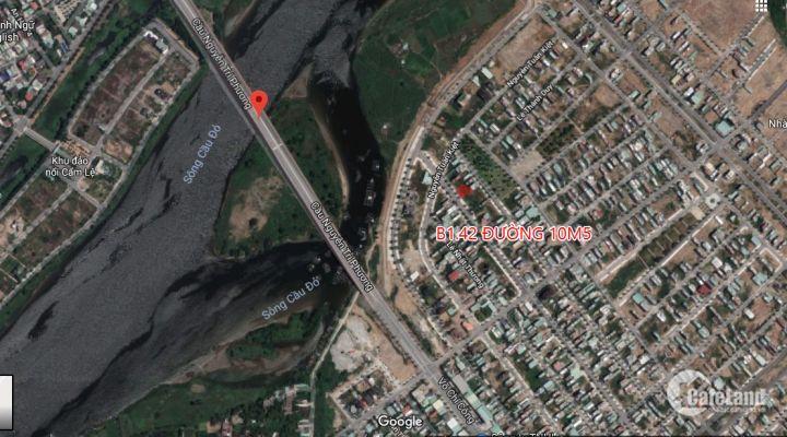 Bán lô đất B1.42 trục đường 10m5 thông dài sát cầu Nguyễn Tri Phương, gần sông và ngã tư lớn